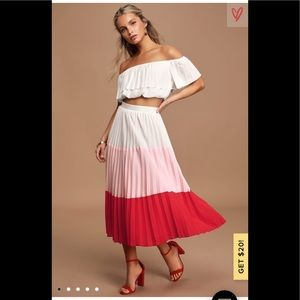 Perfectly punctual colorblock 2 piece dress skirt